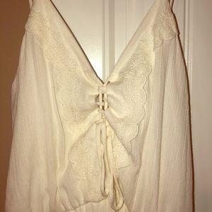 Lightweight white maxi dress